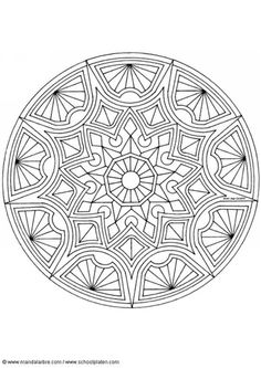 Kleurplaat mandala-1502e