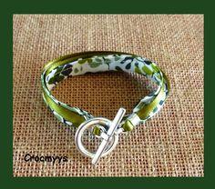 Bracelet liberty nina taylor vert double tour : Bracelet par crocmyys