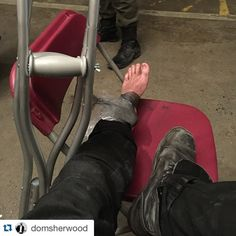 """Oh no our Jace is injured. Not good for his demon hunting, or perhaps it was a demon that did this to him. Hmm.. Not nice.  From Dom's instagram: """"Ouchie! Get well soon @domsherwood ! Use your stele and drawing an iratze rune➰ #Shadowhunters   #Repost @domsherwood with @repostapp. ・・・ Good job Dom!"""""""
