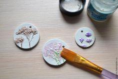 Создаем нежные гипсовые кулоны с оттисками цветов - Ярмарка Мастеров - ручная работа, handmade