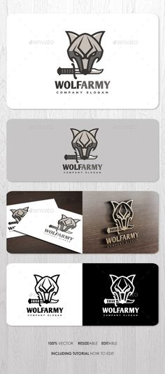 Buy Wolf Army Logo by ashenterprise on GraphicRiver. Great mascot logo for your business identity. Files including EPS, AI, and PDF Help (including font link and simple t. Veteran Logo, Company Slogans, Logo Design Template, Animal Logo, Wolf, Army, Photoshop, Graphic Design, Logos