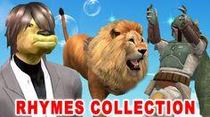 Popular Nursery Rhymes Collection: Spiderman Lion Turtles Dog Skeletons ...