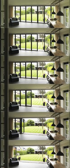 Sliding Patio Doors, Sliding Glass Door, Cabin Design, House Design, Patio Deck Designs, Tiny House Exterior, Facade Design, Paint Colors For Home, Window Design
