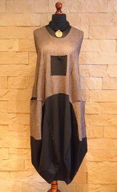 SARAH SANTOS Lagenlook Exclusive Collection MAXI Dress Black Mocha Size XXL                            | Add to Watch list