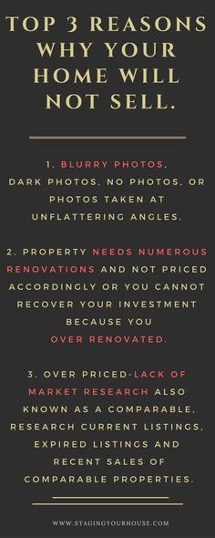 I see these mistakes over and over again on the MLS; expired listings and homes…