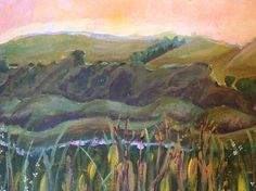 Forbidden Fields 1 by Karen Woodbury   8 x 14 acrylic on canvas   Copyright 2015 all rights reserved