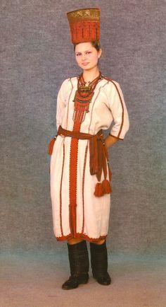 Kokoshnic Headdress (a russian term) but its the same on this Mordva woman in her national costume
