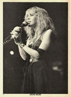 Stevie Nicks. I've wanted to be her since I was about 5 years old. I remember dancing to her music with my sister and my cousin, wearing my aunts clothes and jewelry, until we all passed out. We were little gypsies.
