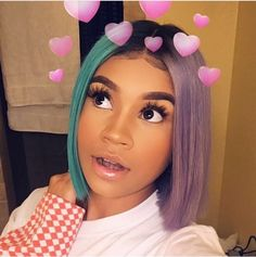 Shop Rabake Non-Processed Brazilian Lace Front Wig Natural Wave Bob Cuticle Aligned Remy Human Hair Bob Wavy Wigs Dope Hairstyles, Weave Hairstyles, Pretty Hairstyles, Curly Hair Styles, Natural Hair Styles, Pelo Natural, Natural Wigs, Hair Laid, Little Doll
