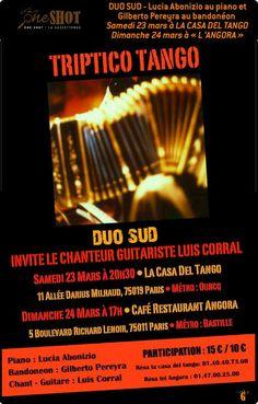 Tríptico Tango en Paris