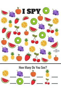 Free Summer Fruit worksheets for kids I-Spy Number Recognition Letter Recognition Less Than or Greater Than Fruit from Our Family Code Fun Worksheets For Kids, Kindergarten Math Worksheets, In Kindergarten, Letter Worksheets For Preschool, Toddler Worksheets, Phonics Worksheets, Toddler Learning Activities, Fun Activities For Kids, Preschool Activities