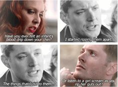 [SET OF GIFS] the pain that is dean winchester is going to be the death of me. 9x02 Devil May Care & 4x10 Heaven and Hell