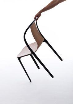 Vitra stoel Belleville Chair hout door Ronan & Erwan Bouroullec | Designlinq