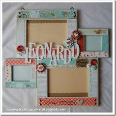 Cute frames by tonyacst Frame Crafts, Diy Frame, Fun Crafts, Frame Wall Decor, Frames On Wall, Cute Frames, Picture Frames, Mothers Day Crafts, Primitive Crafts