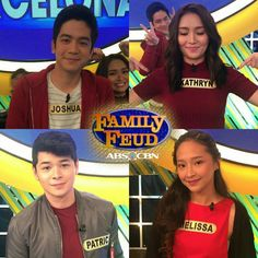 """This is the pretty Kathryn Bernardo with the cast of """"Barcelona: A Love Untold"""" smiling for the camera with Team Barcelona: A Love Untold before the taping of Family Feud last September 17, 2016. This was the episode where Team Barcelona: A Love Untold played Family Feud vs. Team Born for You. #KathrynBernardo #JoshuaGarcia #BarcelonaALoveUntold #FamilyFeudPH Child Actresses, Child Actors, Joshua Garcia, Filipina Actress, Star Magic, Kathryn Bernardo, Family Feud, All Grown Up, September 17"""
