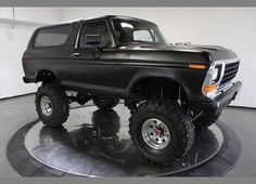 78 ford bronco. We had this truck when I was a kid.  Wasn't jacked as high though.  Just like my dads that he drove back and forth to the air national guard base for over 20 years.