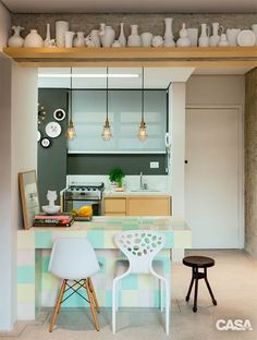 Small kitchen for u'r minimalis home Cocina Art Deco, Kitchen Dining, Kitchen Decor, Open Concept Kitchen, Diy Home Decor Projects, Kitchen Colors, Kitchen Interior, Decorating Your Home, Home Kitchens
