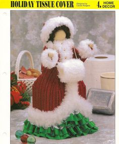 Holiday Tissue Cover Plastic Canvas by needlecraftsupershop, $4.99