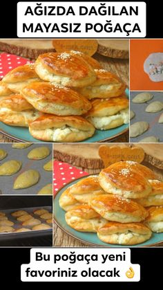 Yeast-Free Pastry Recipe, How To . (A delicious little pastry with little ingredients) - Yemek Tarifleri: Kolay, Pratik, Lezzetli - Dinner Recipes, Dessert Recipes, Desserts, Turkish Breakfast, Delicious Donuts, Easter Dinner, Turkish Recipes, Pastry Recipes, Bakery