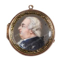 LOUIS XVIII, roi de France (1755-1824). Miniature pendentif le représentant de profil