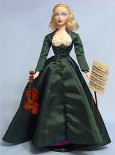 Gene Marshall, Crescendo outfit & accessories only, 1996. Got this for a great price on ebay, I wanted it for the violin but the dress is quite nice. It can fit Tyler though a tiny bit snug.