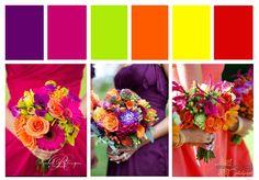 Mixed Spice Wedding Inspiration Board - Red, Orange, Yellow, Pink, Purple & green Designcat Weddings
