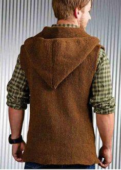 Men's sleeveless jacket crochet pattern free