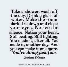 You're doing just fine...