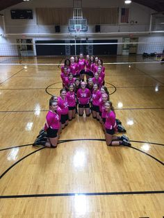 for the cure Dig Pink Game!Volley for the cure Dig Pink Game! Volleyball Team Pictures, Volleyball Locker, Volleyball Poses, Volleyball Shirts, Coaching Volleyball, Cheer Pictures, Volleyball Crafts, Volleyball Setter, Softball Pictures