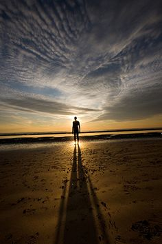 """Sunset Silhouette Photography.... """"All Alone"""" captured by David Hobcote. (Click image to see more from David Hobcote.)"""