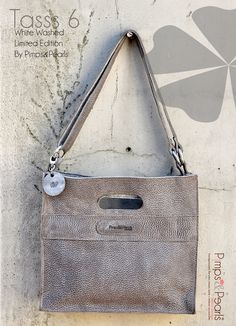 Leather bags, special edition White Washed Tasss, by Pimps&Pearls. Dutch Design