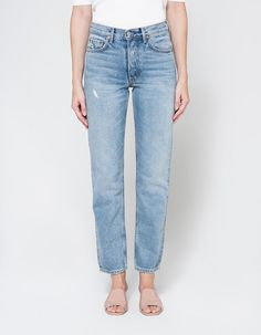 GRLFRND Helena High-Rise Straight Jean, $210, available at Need Supply Co. #refinery29 http://www.refinery29.com/skinny-jeans-for-curvy-legs#slide-4