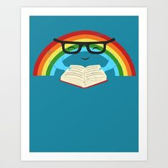 Reading Rainbow Art Print by Jay Fleck - $14.56