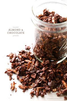 Toasted almond and chocolate granola…yum!