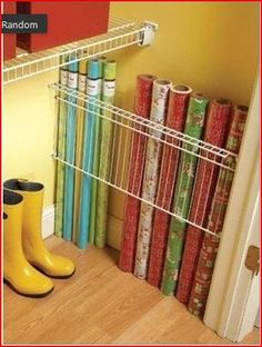 paper storage...this is clever