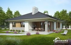Adele - Dobre Domy Flak & Abramowicz House Layout Plans, Modern House Plans, House Layouts, Home Design Plans, Adele, Bungalow, My House, Floor Plans, Outdoor Structures
