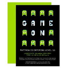 Shop Pixel monster alien gaming birthday party invitation created by Mylittleeden. Monster Birthday Invitations, Kids Birthday Party Invitations, Birthday Games, 11th Birthday, Alien Party, Childrens Party, Zazzle Invitations, Paper Texture, Monster Games