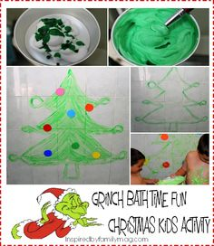The Grinch Who Stole Christmas Bath Fun: Christmas Kids Activity