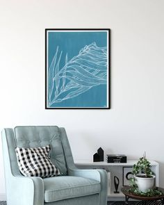 Under the Sea Agave Designs ( Botanical Art, Under The Sea, Line Drawing, Modern Art, Tapestry, Photo And Video, Wall Art, Videos, Photos