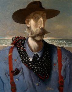 "John Byrne, ""Self-Portrait with Stetson"" Kelvingrove Art Gallery & Museum, Glasgow, UK. Glasgow Museum, Glasgow Uk, Selfies, Superman, John Byrne, Found Art, National Portrait Gallery, Art Uk, Art For Art Sake"