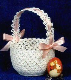 Knit pattern for easter baskets crochet easter basket patterns calico easter basket pattern free Easter Egg Pattern, Easter Crochet Patterns, Crochet Basket Pattern, Crochet Crafts, Bunny Crafts, Easter Crafts For Kids, Crochet Symbols, Crochet For Kids, Easter Baskets