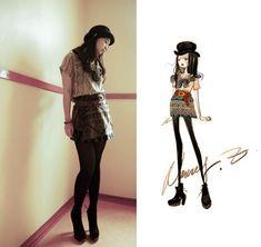 Nancy Zhang - Topshop Hat,Boots And Shirt, Muji Belt - Block Mind