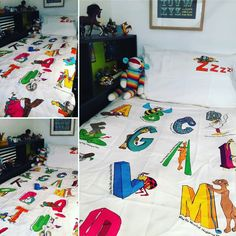 Great photos of Animal Alphabet sent in by Lewis. Thanks so much, love your bedroom!