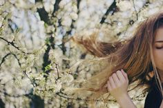 aphelia:   With pollen in my hair. by coralie.vi on Flickr.