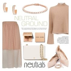 """Cool Neutrals"" by blossom-jewels ❤ liked on Polyvore featuring River Island, Proenza Schouler, Tory Burch, Bobbi Brown Cosmetics, neutrals, contestentry and Blossomjewels"