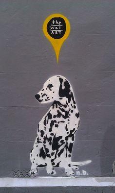 Dalmation Stencil by bixentro, via Flickr