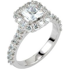 1.40CT Halo Accent Diamond Ring 14K White Gold $1,599.00 (save $2,687.70)  #SizzlingSummerBling @catalogs