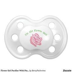 Flower Girl Pacifier With Pink Rose