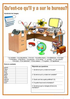 Printer Projects New York Learning Language France French Verbs, French Grammar, French Teaching Resources, Teaching French, High School French, French Worksheets, French Education, French Classroom, French History