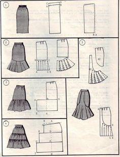 patrones para trajes de flamenca - Buscar con Google